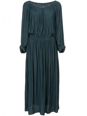 Платье с присборенной отделкой Smythe. Цвет: зелёный