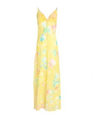 Длинное платье MISS NAORY. Цвет: желтый