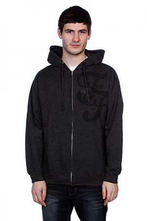 Толстовка  Motif Zip Hood Heat Charcoal/Black Fallen. Цвет: серый