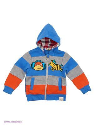Куртка трикотажная с начёсом Kidly. Цвет: серый, красный, синий