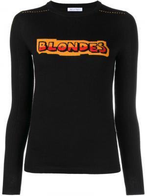 Джемпер Blondes Bella Freud. Цвет: чёрный