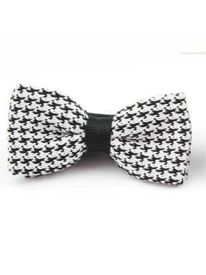 Галстук-бабочка Churchill accessories. Цвет: белый, черный