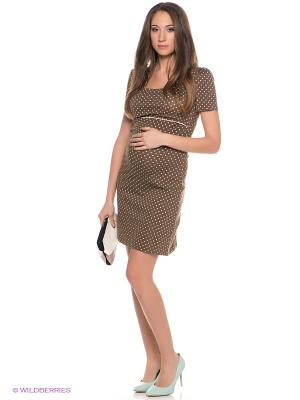 Платье Hunny Mammy. Цвет: коричневый