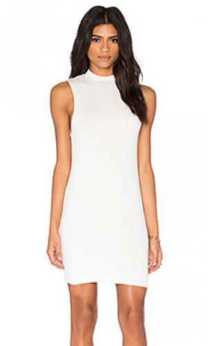 Платье миди BLQ BASIQ. Цвет: белый