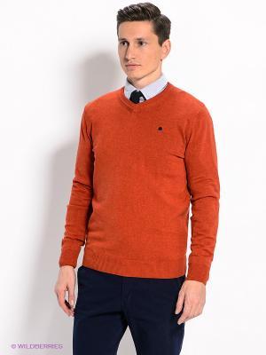 Пуловер Men of all nations. Цвет: оранжевый