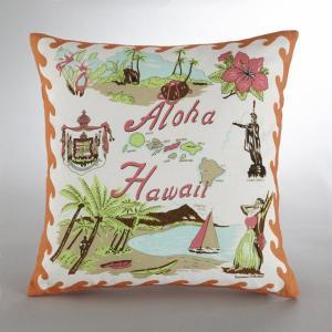 Наволочка с гавайским рисунком, Bensimon. Цвет: оранжевый/бежевый/коричневый