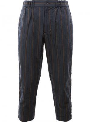 Укороченные брюки 08Sircus. Цвет: синий