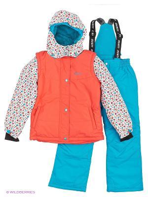 Комплект одежды Gusti. Цвет: голубой, оранжевый