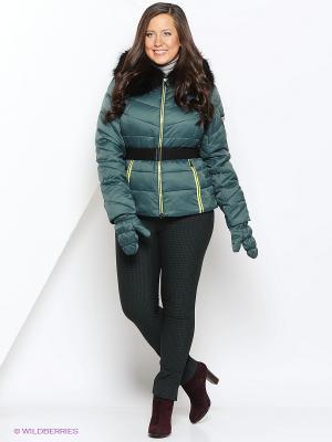 Куртка MOHNASS. Цвет: зеленый