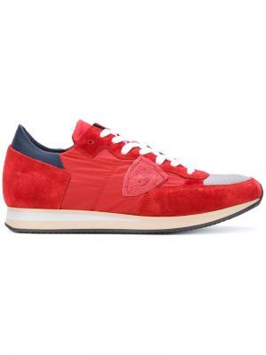 Кроссовки Tropez Philippe Model. Цвет: красный