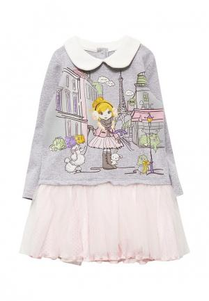 Платье Sonia Kids. Цвет: серый