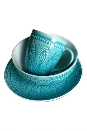 Набор посуды 3 предмета TONGO. Цвет: голубой