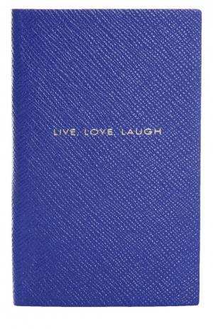 Записная книжка Smythson. Цвет: синий