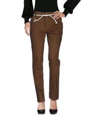 Повседневные брюки ELEVEN PARIS. Цвет: зеленый-милитари