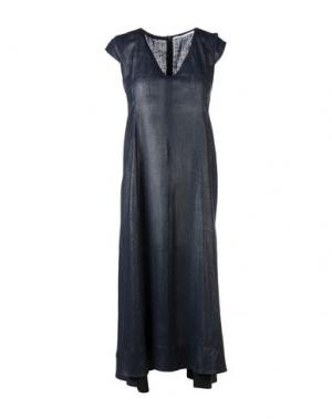 Платье до колена MAISON LAVINIATURRA. Цвет: темно-синий