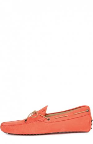 Кожаные мокасины Gommino Tod's. Цвет: оранжевый