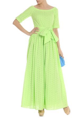 Платье с открытыми плечами NATALIA PICARIELLO. Цвет: лаймовый