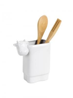 Набор столовых приборов Moo Balvi. Цвет: белый