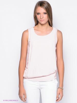 Блузка OBJECT. Цвет: бледно-розовый