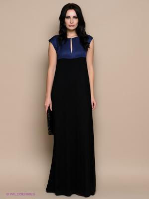Платье PALLARI. Цвет: черный, синий