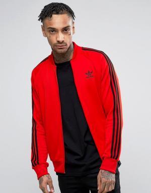 Adidas Originals Красная спортивная куртка Superstar BK5918. Цвет: красный