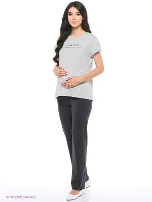 Брюки для беременных impressmama. Цвет: антрацитовый