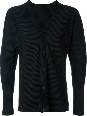 Пиджак в рубчик Homme Plissé Issey Miyake. Цвет: чёрный