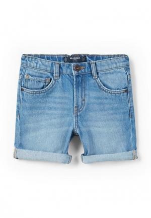 Шорты джинсовые Mango Kids. Цвет: голубой
