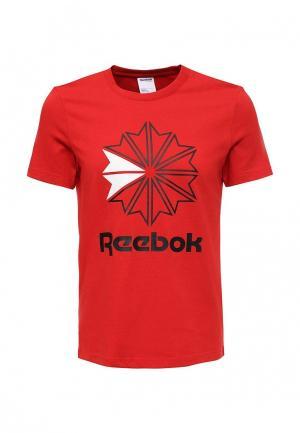 Футболка спортивная Reebok Classics. Цвет: красный