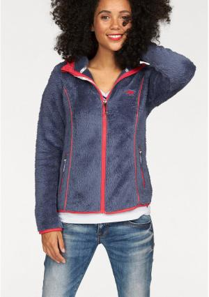 Флисовая куртка Kangaroos. Цвет: джинсовый синий/коралловый, лиловый/серый, серый/дымчато-серый