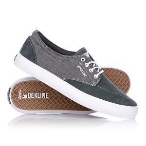 Кеды кроссовки низкие  Mason Pewter/White Dekline. Цвет: зеленый,серый