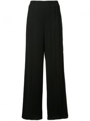 Широкие брюки с кружевной вставкой по бокам Goen.J. Цвет: чёрный