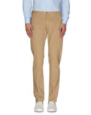 Повседневные брюки MAURIZIO MIRI. Цвет: песочный