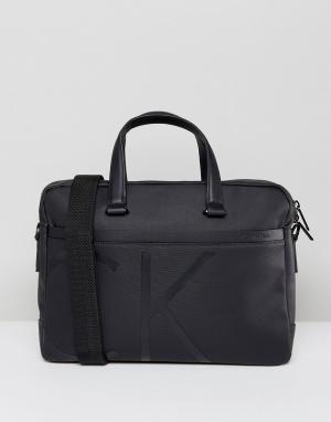Calvin Klein Сумка для ноутбука с логотипом. Цвет: черный