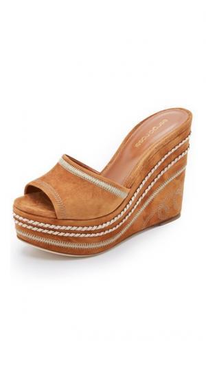 Туфли без задника Dahlia на танкетке Sergio Rossi. Цвет: коричневый
