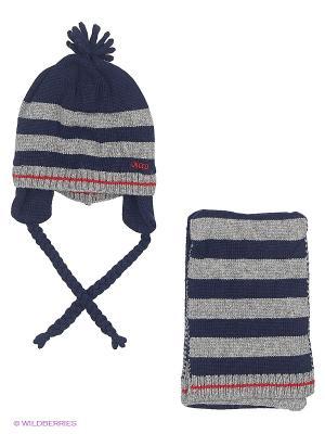 Комплект (шапка + шарф) CHICCO. Цвет: темно-синий