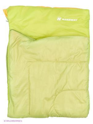 Мешок спальный Nordway. Цвет: зеленый