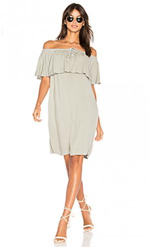 Платье bella LA Made. Цвет: серый