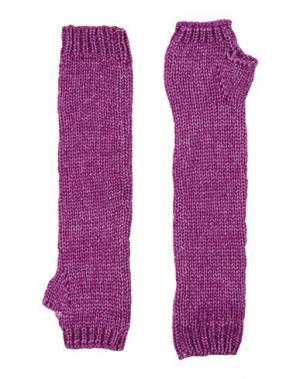 Перчатки BLUGIRL BLUMARINE. Цвет: розовато-лиловый