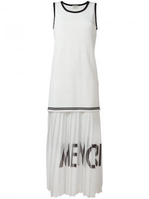 Плиссированное платье без рукавов Each X Other. Цвет: белый