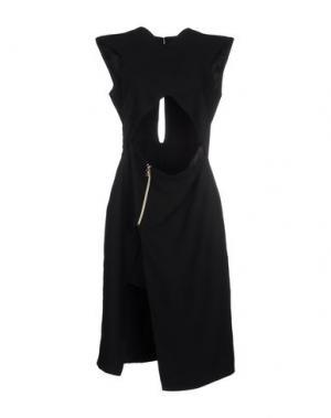 Платье до колена VIOLANTE NESSI. Цвет: черный