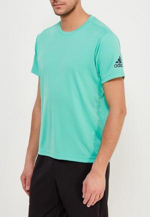 Футболка спортивная adidas. Цвет: бирюзовый