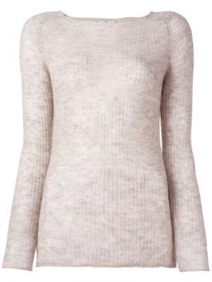 Вязаный свитер Forte. Цвет: телесный