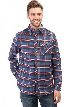 Рубашка в клетку  Check Shirt Blue/Red Skills. Цвет: синий,красный