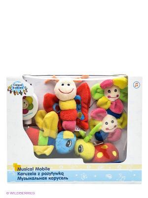 Музыкальная игрушка карусель Божья коровка Canpol babies. Цвет: красный, желтый, зеленый