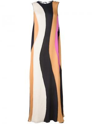 Полосатое платье Roksanda. Цвет: синий