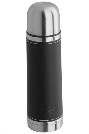 Термос в коже 0,5 л Regent Inox. Цвет: черный