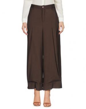 Повседневные брюки KITAGI®. Цвет: темно-коричневый