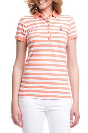 Футболка U.S. Polo Assn.. Цвет: оранжевый