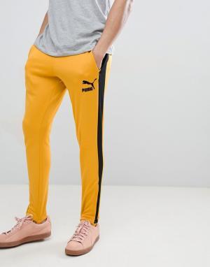 Puma Желтые джоггеры в винтажном стиле T7 57498748. Цвет: желтый
